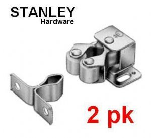 2, 4 & 10 pack STANLEY Double roller catches. Nickle 83-5335